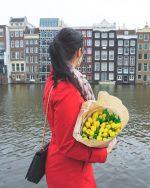 Spomladanski Amsterdam v rožicah | Amsterdam, Nizozemska
